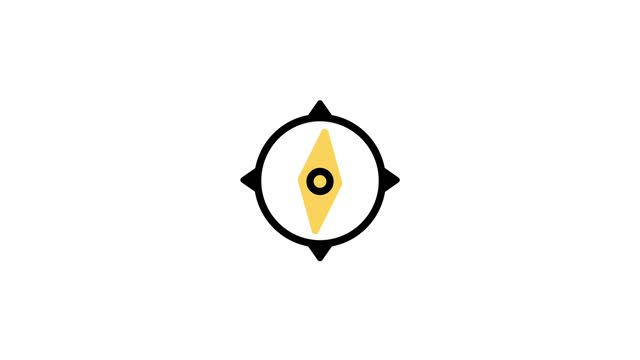 Compass Icon Animation.